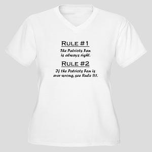 Patriots Women's Plus Size V-Neck T-Shirt