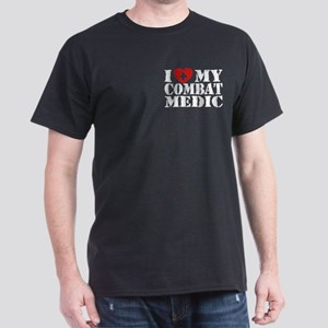 I Love My Combat Medic Dark T-Shirt