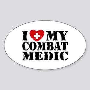 I Love My Combat Medic Sticker (Oval)