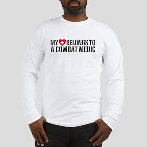 My Heart Belongs To Combat Medic Long Sleeve T-Shi