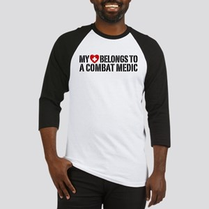 My Heart Belongs To Combat Medic Baseball Jersey