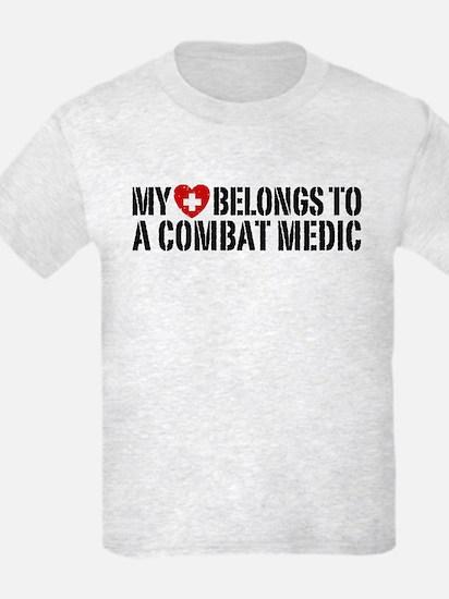 My Heart Belongs To Combat Medic T-Shirt