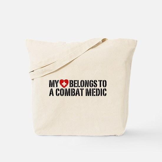 My Heart Belongs To Combat Medic Tote Bag