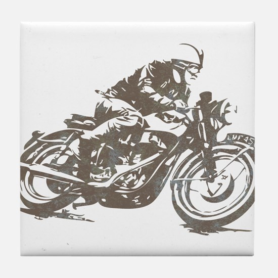 RETRO CAFE RACER Tile Coaster
