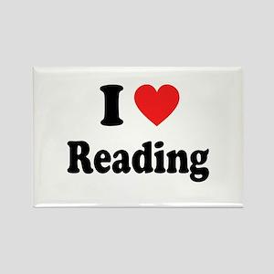 I Heart Reading: Rectangle Magnet