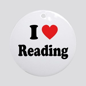 I Heart Reading: Ornament (Round)