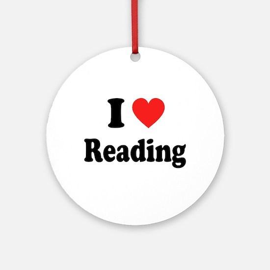 I Heart Reading: Ornament (Round)