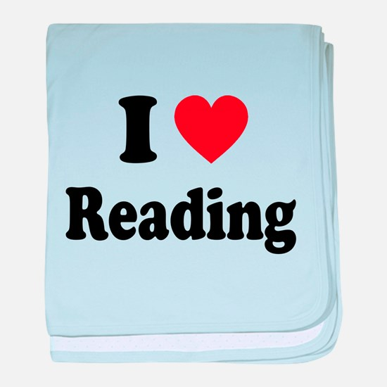 I Heart Reading: baby blanket
