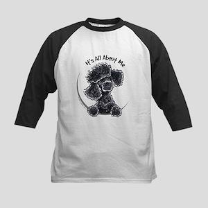 Black Poodle Lover Kids Baseball Jersey