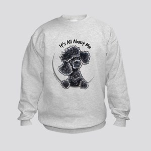 Black Poodle Lover Kids Sweatshirt