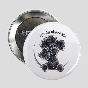 """Black Poodle Lover 2.25"""" Button"""