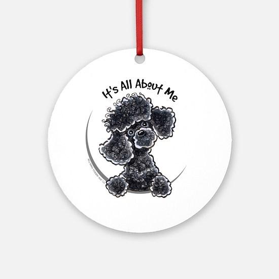 Black Poodle Lover Ornament (Round)