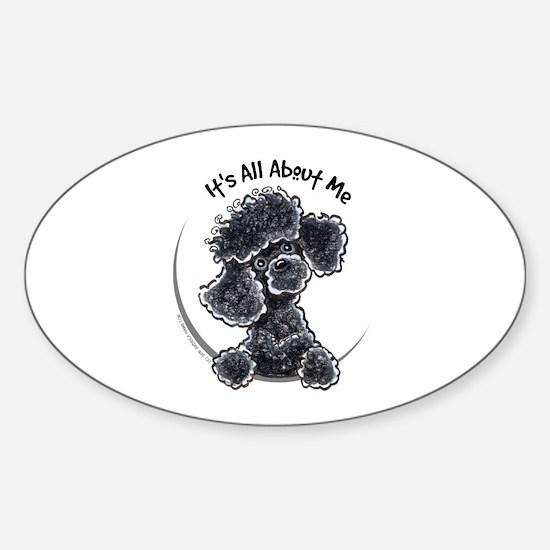 Black Poodle Lover Sticker (Oval)