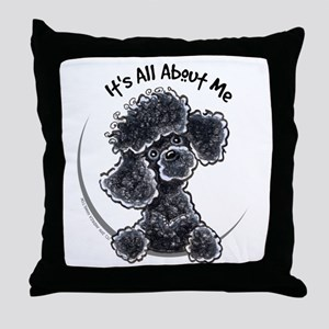 Black Poodle Lover Throw Pillow