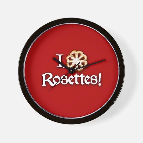 I Love Rosettes Wall Clock