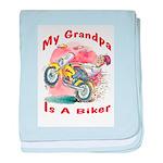 Grandpa Biker baby blanket