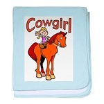 Cowgirl baby blanket