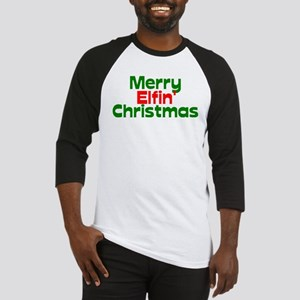 Merry Elfin' Christmas Baseball Jersey