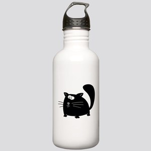 Cute Black Cat Stainless Water Bottle 1.0L