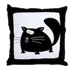 Cute Black Cat Throw Pillow