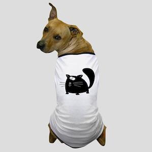 Cute Black Cat Dog T-Shirt
