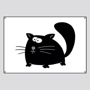 Cute Black Cat Banner
