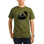 Cute Black Cat Organic Men's T-Shirt (dark)