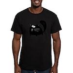 Cute Black Cat Men's Fitted T-Shirt (dark)