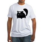Cute Black Cat Fitted T-Shirt