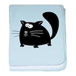 Cute Black Cat baby blanket