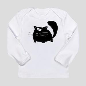 Cute Black Cat Long Sleeve Infant T-Shirt