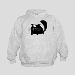 Cute Black Cat Kids Hoodie