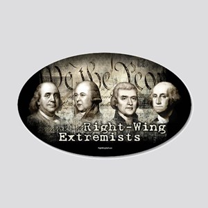 Right-Wing Extremists 20x12 Oval Wall Peel