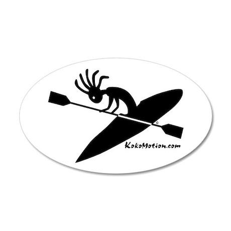 Kokopelli Kayaker 35x21 Oval Wall Peel
