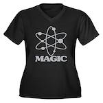 Magic Women's Plus Size V-Neck Dark T-Shirt