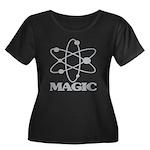 Magic Women's Plus Size Scoop Neck Dark T-Shirt