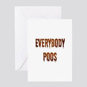 Everybody Poos Greeting Card