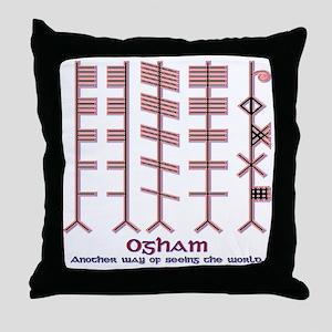 "The Ogham ""alphabet"" Throw Pillow"