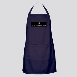 I Golf Therefore I am. Apron (dark)