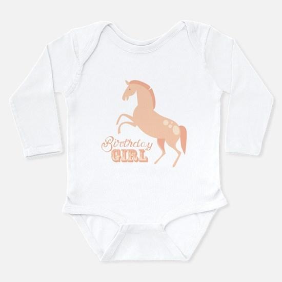 Birthday Girl Pony Long Sleeve Infant Bodysuit