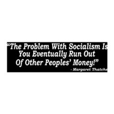 The Problem With Socialism 36x11 Wall Peel