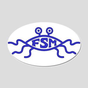 FSM Fish 20x12 Oval Wall Peel