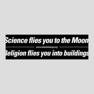 Science vs. Religion bumper sticker