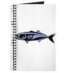Graphic Blue Fish Journal