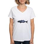 Graphic Blue Fish Women's V-Neck T-Shirt