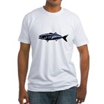 Graphic Blue Fish Fitted T-Shirt