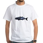 Graphic Blue Fish White T-Shirt