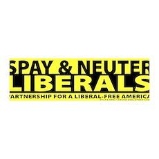 Spay & Neuter Liberals 36x11 Wall Peel