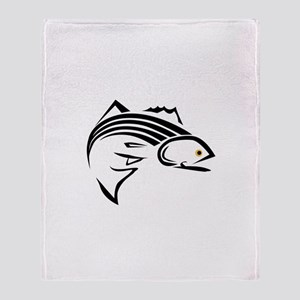 Striper Graphic Throw Blanket