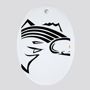 Striper Graphic Ornament (Oval)